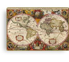 World Map 1630 Canvas Print