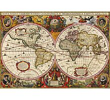 World Map 1630 Photographic Print