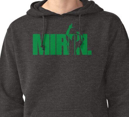 Mirin. (version 2 green) Pullover Hoodie