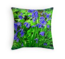 A touch of blue... Throw Pillow