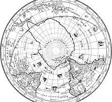 World Map 1628 (Southern Hemisphere) by VintageLevel