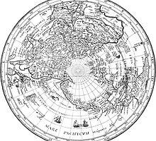 World Map 1628 (Northern Hemisphere) by VintageLevel