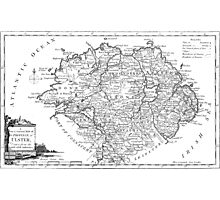 Ulster Map 1786 Photographic Print