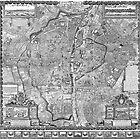 Paris Map 1652 by VintageLevel
