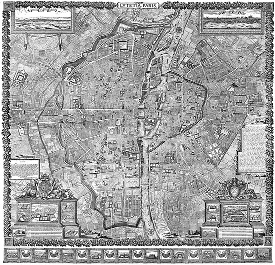 Paris Map 1652 by VintageLevel
