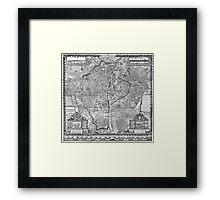 Paris Map 1652 Framed Print