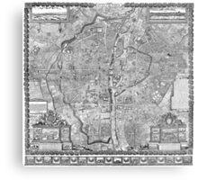 Paris Map 1652 Metal Print