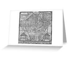Paris Map 1652 Greeting Card