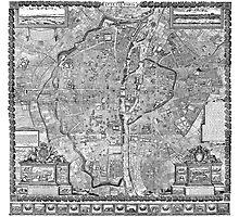 Paris Map 1652 Photographic Print