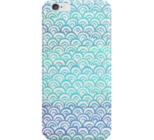 Blue Watercolor Fish Scales Pattern iPhone Case/Skin