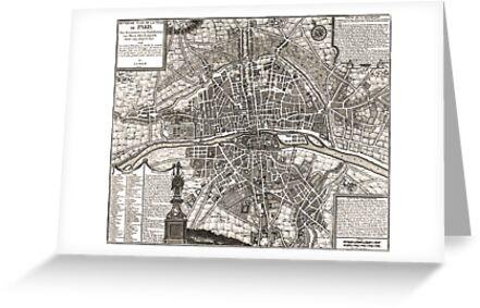 Paris Map 1643 by VintageLevel