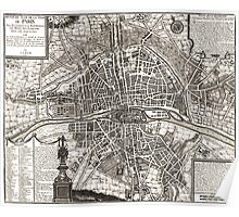 Paris Map 1643 Poster