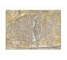 Paris Map 1150 Art Print