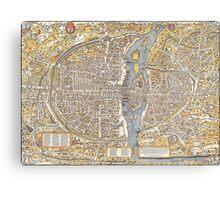 Paris Map 1150 Canvas Print