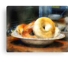 Food - Bagels for Sale Canvas Print