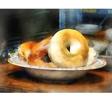 Food - Bagels for Sale Photographic Print