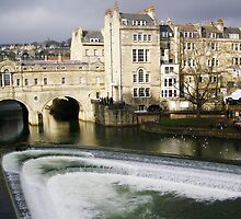 Pulteney Bridge, Bath - Greeting Card by mmuldoon