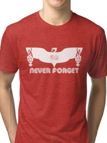 LFC 96 Never Forget - White Tri-blend T-Shirt