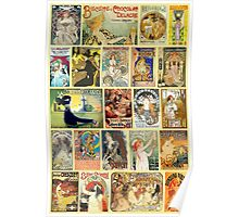 Art Nouveaus Advertisemets Collage Poster