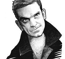 Caricature - Robbie Williams by Jan Szymczuk