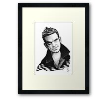 Caricature - Robbie Williams Framed Print