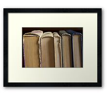 five books Framed Print