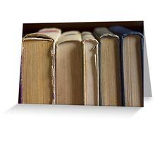 five books Greeting Card