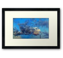 ©HCS Blue Cloudscape Tower Framed Print