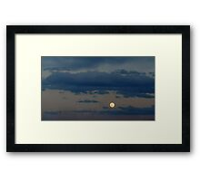 ©HCS Blue Clouds And Moon I Framed Print