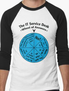 The IT Service Desk Wheel of Answers. Men's Baseball ¾ T-Shirt