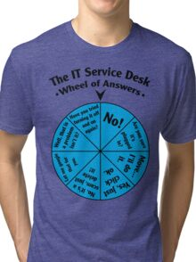The IT Service Desk Wheel of Answers. Tri-blend T-Shirt