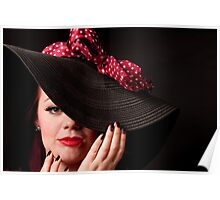 Big Hat with a Bow Poster
