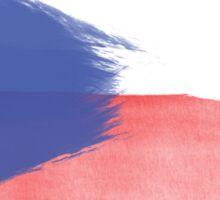 czech flag republic Sticker