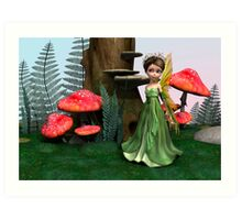 Fairy in Woodland Art Print