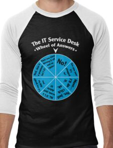 The IT Service Desk Wheel of Answers. Men's Baseball ¾ T-Shirt