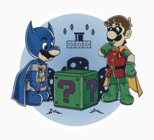 BatMario VS Riddler Kids Tee