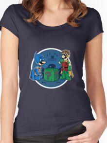 BatMario VS Riddler Women's Fitted Scoop T-Shirt