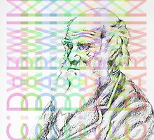 Charles Darwin Coloured by FontaineN