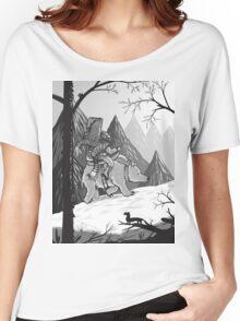 Snowman and bear Women's Relaxed Fit T-Shirt