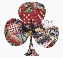 Club - Las Vegas Playing Card Shape  by Gravityx9