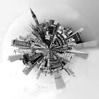 The World of Manchester (B&W) by Stephen Knowles
