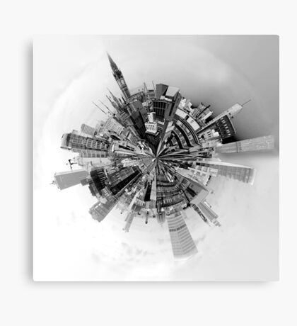 The World of Manchester (B&W) Canvas Print
