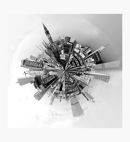 The World of Manchester (B&W) Photographic Print