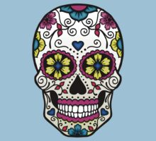 Purple Sugar Skull Kids Clothes