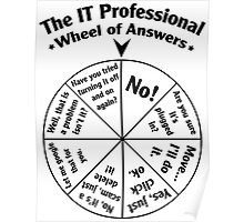 The IT Professional Wheel of Answers. Poster