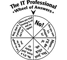 The IT Professional Wheel of Answers. Photographic Print