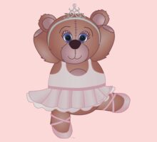 Cute Cartoon Teddy Bear Ballerina by ArtformDesigns