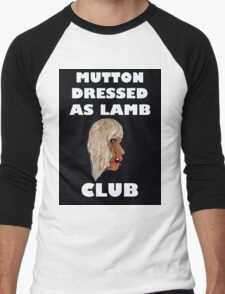 MUTTON DRESSED AS LAMB CLUB Men's Baseball ¾ T-Shirt