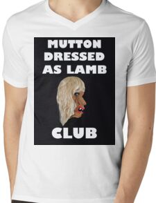 MUTTON DRESSED AS LAMB CLUB Mens V-Neck T-Shirt