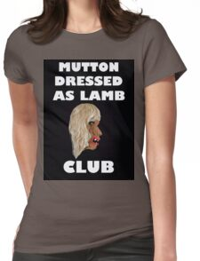 MUTTON DRESSED AS LAMB CLUB Womens Fitted T-Shirt